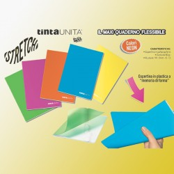 Quaderno Maxi Tinta unita stretch